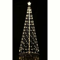 12#x27; Ft. Outdoor Warm White LED Christmas Tree Cone Light w Wireless Remote 144?
