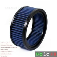 Blue Motorcycle ATV Air Filter Round High Flow Air Cleaner For Harley E 3226