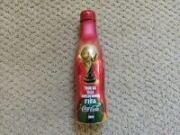 Coca Cola Aluminum Bottle 2014 Fifa World Cup Filled Good Condition