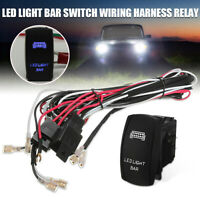 Auto ATV LED Light Bar Rocker Switch ON OFF 40A Relay Fuse Wiring Harness 12V US