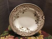 Antique Floey AFamp;Co Soup Bowl Brown Transferware Staffordshire