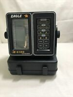 Eagle Z 6100 LCG Recorder Fish Finder Monitor w Battery Case Transducer