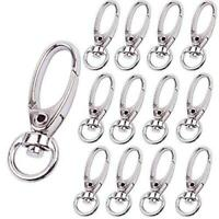 BronaGrand Pack of 50 D Swivel Trigger Clips Hooks Metal Key Ring Lobster Clasps $11.99