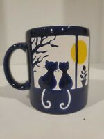 Vintage Waechtersbach Mug Blue with Cats in Window Spain ADORABLE