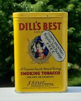 VINTAGE ADVERTISING DILLS BEST COMPLIMENTARY SMOKING TOBACCO VERTICAL POCKET TIN