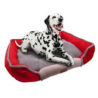 Dog Square Bed for Sleeping Soft Memory Foam Warming Mat with Removable Pad