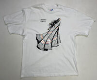 VINTAGE Brothers Turquoise Indian 1991 T shirt Large White 90s Single Stitch