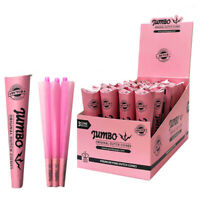 JUMBO DUTCH Pink King Size Pre Rolled Paper Cones 3 Cones in Each Pack GBP 2.19