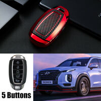 TPU Red Remote Key Fob Cover Case For Hyundai Palisade 2020 2021 Smart 5 Button $23.99