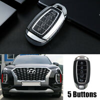 Silver TPU Remote Key Fob Cover Case For Hyundai Palisade 2020 Smart 5 Button $23.99