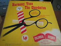 The Chordettes Harmony Time Vol. II Barbershop Tunes 1951 Columbia CL 6170 $22.95