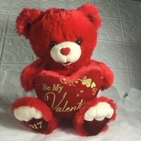 Dan Dee 20quot; Red Sweetheart Teddy Bear Be My Valentine Gold Embroidered Lg 2017 $19.99