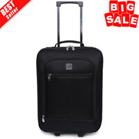 Carry On Luggage Suitcase 18quot; Cabin Bag Small Lightweight Rolling Baggage Black