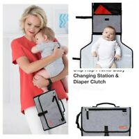 Skip*Hop Compact Travel Diaper Changing Station Clutch. EZ to use amp; pack way.