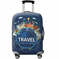 WUJIAONIAO Travel Luggage Cover Spandex Suitcase Protector Washable Baggage Cove