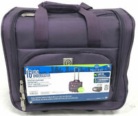 Protege 16 Inch UnderSeater Carry On Bag Purple Telescopic Handle w Wheels