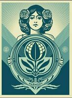 """OBEY """"Protect Biodiversity Cultivate Harmony"""" Screen Print Signed Numbered 500 $175.00"""