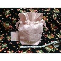 Oh Kitty Goods Impression Hello Pink Lace Drawstring Bag