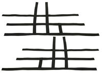 Yamaha Raptor 700    Nerf Bar Nets   Fits Alba Racing  Tusk     Black  F