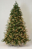 4.5' Cascade Fir Artificial Christmas Tree with Clear LED Lights