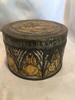 Collectible Vintage Tin Can Land's Apfelkraut- Marmeladenfabrik Rare In U.S.A.