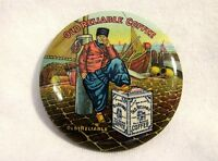 COLORFUL CIRCA 1900 OLD RELIABLE COFFEE ADVERTISING POCKET MIRROR EXCELLENT COND
