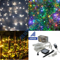 300 LED Solar String Lights 100ft Outdoor Fairy Lighting Xmas Party Tree Decor