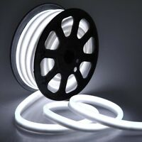 50' LED Neon Rope Light Flex Tube Holiday Party Home Outdoor Decor Bright White