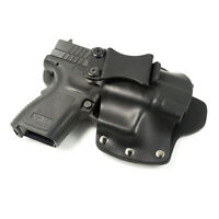 IWB Hybrid Concealed Carry Holster FOR GLOCK - Kydex & Leather - Single Clip