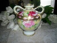 Nippon Hand Painted Urn
