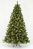 4.5' Arctic Spruce Artificial Christmas Tree with Multi-color LED Lights