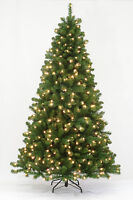 7.5' Arctic Spruce Artificial Christmas Tree with Multi-color LED Lights