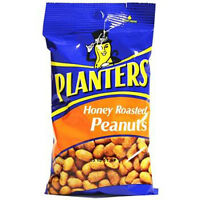 Planters Honey Roasted Peanuts - Bag 6 Oz Each ( 12 In A Pack )