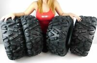 4 New 26x9-12 26x11-12 KT MASSFX big TIRE SET FOUR ATV TIRES 6 PLY 26