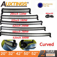 Curved LED LIGHT BAR WORK BEAM 4WD BOAT OFFROAD ATV 4X4 20'' 32'' 42'' 52inch