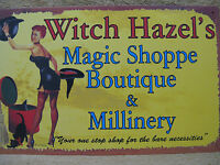 Witch Hazel Magic Halloween Tin Metal Sign Decor Scary