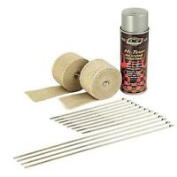 DEI 010331 MOTORCYCLE/ATV EXHAUST TAN/SILVER HEADER PIPE THERMAL HEAT WRAP KIT