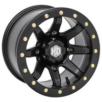 STI HD9 Beadlock Matte Black ATV Wheel 14x8 4/156 (4+4) [14HB9238]