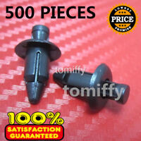 500 Pcs 6mm Hole Plastic Push In Type Rivets Fastener Pin Clips ATV Motorcycle