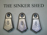 8 oz flat bank sinkers / decoy weight - quantity of 10/20/40 - FREE SHIPPING