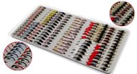 126PC Bead Head Nymph Scud Midge Fly Fishing Flies Fly Trout Fishing Lures Baits