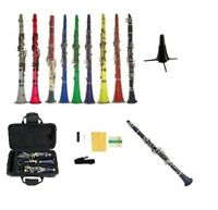 NEW Merano Bb Clarinet,Case,Stand~Black Red Pink Blue Green Purple Yellow White
