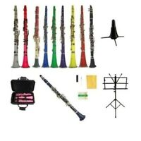NEW Merano Clarinet,Tuner,2 Stands~Black Red Pink Blue Green Purple Yellow White