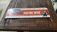 Vintage Metal Royal Electric Wire  Store Display Sign royal jim
