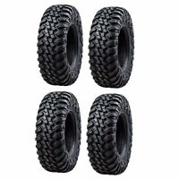 Tusk Terrabite Radial ATV UTV Tire Kit Set Of Four 4 Tires 25x8-12 And 25x10-12