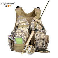 Fly Fishing Mesh Adjustable Sling Pack Chest Pack Backpack Outdoor Sports Vest