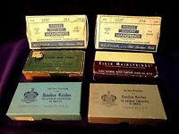 Waltham Elgin Hamilton American Watch Mainspring Boxes~Vintage Advertising