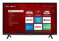 TCL 32quot; Full HD LED Roku Smart TV w 3 HDMI amp; Built in WiFi 32S327 $179.99