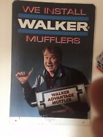 VINTAGE JOHN MADDEN /WALKER MUFFLER METAL SIGN DOUBLE SIDED WITH AUTOGRAPH