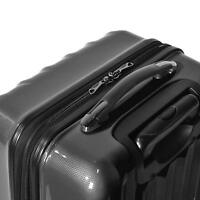 Olympia Luggage Titan 21 Inch Expandable Carry-On Hardside Spinner Black
